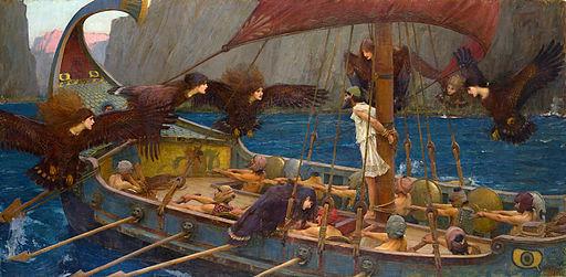 ジョン・ウィリアム・ウォーターハウス作「オデュッセウスとセイレーンたち」