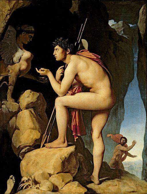 ドミニク・アングル作「スフィンクスの謎を解くオイディプス」