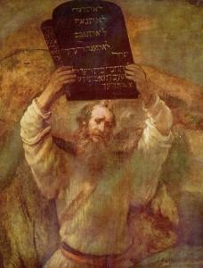 レンブラント作 モーセと十戒